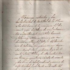 Manuscritos antiguos: 1890 CASTELLON. TESTAMENTO DE MIGUEL FORES BREVA. DOCUMENTO MANUSCRITO. Lote 26213119