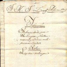 Manuscritos antiguos: APELLIDO LONGARES. ZARAGOZA. ARAGÓN. MANUSCRITO, AÑO 1804 SOBRE LIMPIEZA DE SANGRE.. Lote 21132970