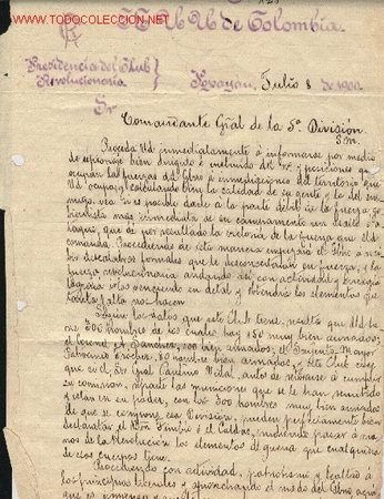 DOCUMENTOS ANTIGUOS DE COLOMBIA. MANUSCRITO. CLUB REVOLUCIONARIO DE POPAYAN. COLOMBIA. (Coleccionismo - Documentos - Manuscritos)