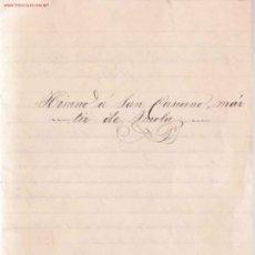 Manuscritos antiguos: HIMNO DEDICADO A SAN CASIANO (... TITULAR DE LA ASOCIACIÓN DE MAESTROS DE SEVILLA) ( 1900). Lote 23656932