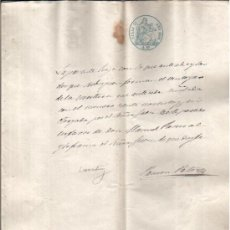 Manuscritos antiguos: 1859. DOCUMENTO MANUSCRITO PAPEL SELLADO FISCAL 3º DE 4 REALES . Lote 27175499