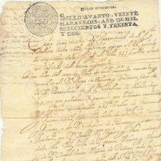 Manuscritos antiguos: DOCUMENTO AÑO 1732 UNA HOJA SEVILLA BUENA CONSERVACIÓN. Lote 25189462
