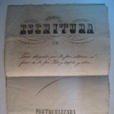 Manuscritos antiguos: ESCRITURA OTORGACION DE PODER BARCELONA 1879. Lote 11002000