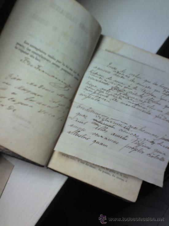 MANUSCRITO POESIA MANUSCRITA RELIGIOSA SIGLO XIX , PRINCIPIOS- ¿ F. DE TRAMARRIA. ? (Coleccionismo - Documentos - Manuscritos)