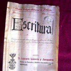 Manuscritos antiguos: ESCRITURA MANUSCRITA 1910. Lote 11885338