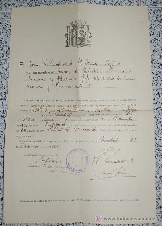 MINISTERIO DE LA GUERRA - JUNTA CALIFICADORA DE ASPIRANTES A DESTINOS PUBLICOS AÑO 1933 (Coleccionismo - Documentos - Manuscritos)