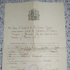Manuscritos antiguos: MINISTERIO DE LA GUERRA - JUNTA CALIFICADORA DE ASPIRANTES A DESTINOS PUBLICOS AÑO 1933. Lote 26615984