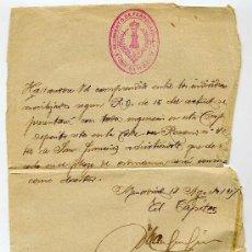 Manuscritos antiguos: CITACION PARA INCORPORARSE AL EJERCITO - AÑO 1917 - REGIMIENTO DE FERROCARRILES 8ª COMPAÑIA DE DEPOS. Lote 26739831