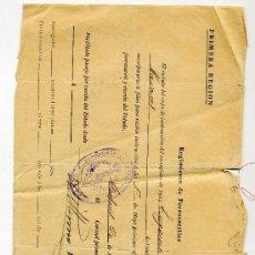 Manuscritos antiguos: RECLUTA REEMPLAZO- AÑO 1915 - REGIMIENTO DE FERROCARRILES . Lote 26949141