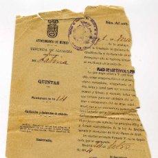 Manuscritos antiguos: LLAMAMIENTO A QUINTAS DEL AYUNTAMIENTO DE MADRID AÑO 1914. Lote 27144069