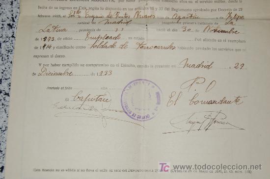 Manuscritos antiguos: MINISTERIO DE LA GUERRA - JUNTA CALIFICADORA DE ASPIRANTES A DESTINOS PUBLICOS AÑO 1933 - Foto 4 - 26615984