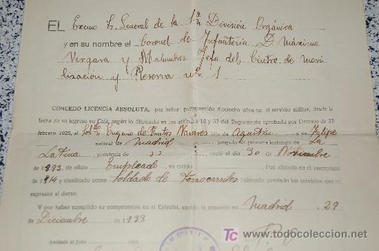 Manuscritos antiguos: MINISTERIO DE LA GUERRA - JUNTA CALIFICADORA DE ASPIRANTES A DESTINOS PUBLICOS AÑO 1933 - Foto 2 - 26615984
