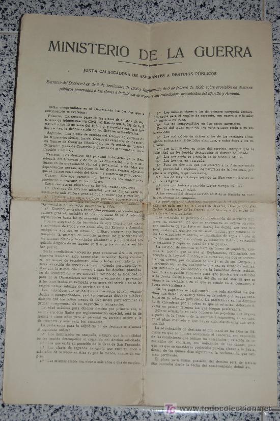 Manuscritos antiguos: MINISTERIO DE LA GUERRA - JUNTA CALIFICADORA DE ASPIRANTES A DESTINOS PUBLICOS AÑO 1933 - Foto 6 - 26615984