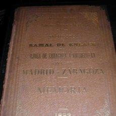 Manuscritos antiguos: FERROCARRILES MANUSCRITO ORIGINAL - PROYECTO DE LA LINEA DE ZARAGOZA A VAL DE ZAFAN ( HIJAR )1892 . Lote 26801517