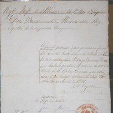 Manuscritos antiguos: 1888, MELILLA, DOCUMENTO MILITAR CON MARCA DEL REGIMIENTO DE INFANTERÍA ALMANSA, Nº 26, 1ER. BATALLÓ. Lote 26634517