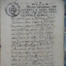 Manuscritos antiguos: GRANADA, ESCRITURA DE UNA CASA EN LA CARRERA DEL GENIL. 1.815. Lote 14083214