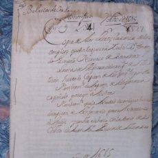 Manuscritos antiguos: CERTIFICACIONES DE LOS EMPLEOS EN LA GUERRA DE GONZALO FERNÁNDEZ DE SAAVEDRA. CÓRDOBA AÑO 1.615. Lote 14798223