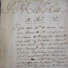 Manuscritos antiguos: GRANADA, 1.807. BONITA ESCRITURA DE VENTA DE TIERRA DE OLIVAR EN EL PAGO DE ALMAJAYAR. Lote 14949828