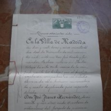 Manuscritos antiguos - Documento manuscrito relacionado con Murcia realizado en Madrid. - 24351949