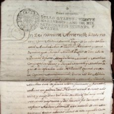 Manuscritos antiguos: SARREAL (TARRAGONA). ACTA NOTARIAL. MANUSCRITO. 1784. Lote 17836154
