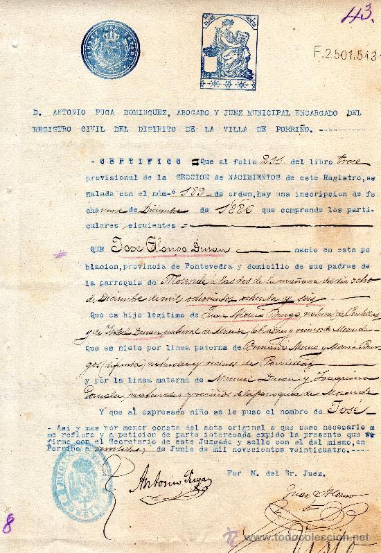 Encantador Aplicación Puerto Rico Certificado De Nacimiento Adorno ...