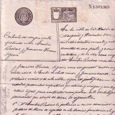 Manuscritos antiguos: CONTRATO DE COMPRAVENTA- AÑO 1898-PROVINCIA DE AVILA. Lote 141866770