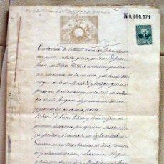 Manuscritos antiguos: ESCRITURA DE COMPA-PROVINCIA DE AVILA AÑO 1878. Lote 26669355