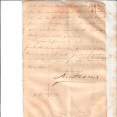 Manuscritos antiguos: 1895 ORIGINAL CARTA GENERAL ANTONIO MACEO ESCRITA FIRMADA ISLA CUBA DOCUMENTO GUERRA CUBA MASONERIA. Lote 26005490