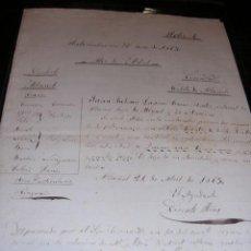 Manuscritos antiguos: NAVEGACION,2 HOJAS MANUSCRITAS,AYUDANTE DE MARINA DE ALBUÑOL-1863-30X21 CM.. Lote 17181657