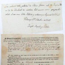 Manuscritos antiguos: GRANOLLERS. RECAUDACIÓN BIENES IGLESIA. AÑO 1843. .. Lote 17461305