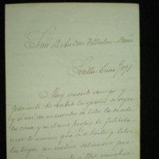 Manuscritos antiguos: SEVILLA. 3 CARTAS MANUSCRITAS DE D. JOSÉ DÍEZ DE TEJADA A D. ANDRÉS VILLALÓN-DAOIZ. 1890-1891.. Lote 17935372