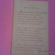 Manuscritos antiguos: MANUSCRITO VALENCIA RICARDO MUR SANCHO FIRMADO 4 PAGINAS VALENCIA 1896. Lote 21745651
