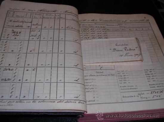 Manuscritos antiguos: CUADERNO DE BITACORA,DIARIO DE NAVEGACION,11 ENERO 1907- 17 ABRIL 1908,CORBETA SAN PEDRO,Y VAPOR - Foto 3 - 18038988