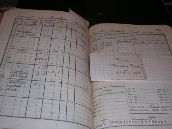 Manuscritos antiguos: CUADERNO DE BITACORA,DIARIO DE NAVEGACION,11 ENERO 1907- 17 ABRIL 1908,CORBETA SAN PEDRO,Y VAPOR - Foto 4 - 18038988