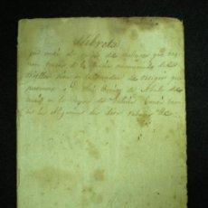 Manuscritos antiguos: CUENTAS. LIBRILLO DE CUENTAS MANUSCRITO. SOBRE 1860.. Lote 18209255