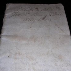 Manuscritos antiguos: MANUSCRITO,LIBRETA DE REBUTS DE JUAN Bª.MARGENAT, PUEBLO DE LLINAS,BARCELONA,1829,. Lote 18688294