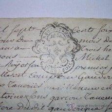Manuscritos antiguos: TESTAMENTO DE PERGAMINO AÑO 1.769....SELLO ROUSSILON - PERPIGNAN. Lote 26976256