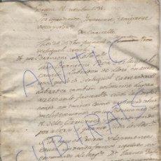 Manuscritos antiguos: MANUSCRITO. DOCUMENTO NOTARIAL. GERONA. GIRONA. AÑO 1791. LLORA. . Lote 19158777