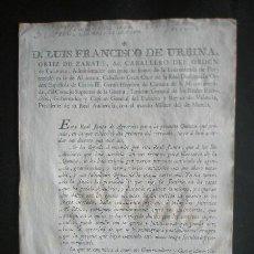 Manuscritos antiguos: DECRETO PARA EVITAR ABUSOS Y ESTAFA QUE HAN SUFRIDO INDIVIDUOS PARA LIBRARSE LA QUINTA. Lote 26974578