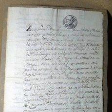 Manuscritos antiguos: MANUSCRITO, VENTA DE UNA BODEGA Y CORRAL EN DAROCA, 1845, SIGNO NOTARIAL, . Lote 22278665