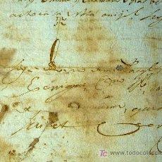 Manuscritos antiguos: MANUSCRITO, DOCUMENTO NOTARIAL, INTERESANTE SIGNO NOTARIAL, NOMBREVILLA, ZARAGOZA, 1817. Lote 22278666