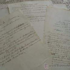 Manuscritos antiguos: LOTE DE MANUSCRITOS ITALIANOS * SIGLO XIX * INDESCIFRADOS. * APROX.SIETE DOCUMENTOS. Lote 24149256