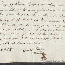 Manuscritos antiguos: A49-DOCUMENTO EN MURCIA AÑO 1867 ,COMPLETO.VALOR EN REALES. Lote 21040357