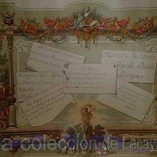 Manuscritos antiguos: MANUSCRITO CALIGRÁFICO CORTE ALFONSO XIII ESCUELA NIÑAS DE LA REAL CASA. Lote 101572767