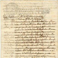 Manuscritos antiguos: DOCUMENTO 1762 RELATIVO A SINEU MALLORCA DOS HOJAS BUENA CONSERVACIÓN. Lote 27207492