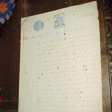 Manuscritos antiguos: REGISTRO DE LA PROPIEDAD TIMBRADO. MALAGA. 1916.. Lote 21457508