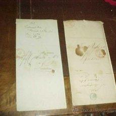 Manuscritos antiguos: DOS CARTAS MANUSCRITAS EN BELGA. AÑO 1848. MATASELLOS DE VERVIERS.. Lote 21480419