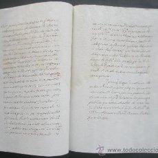Manuscritos antiguos: MANUSCRITO SE HACE SABER A LOS COMERCIANTES QUE TENGAN EN PODER GENEROS DE FRANCIA PRESENTEN. Lote 26062426