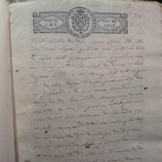 Manuscritos antiguos: GRANADA: PARROQUIA DE LAS ANGUSTIAS: ESCRITURA DE UNA CASA SOBRE PAPEL SELLADO, 1822, S.XIX. Lote 21802652