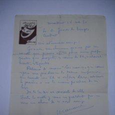 Manuscritos antiguos: CARTA MANUSCRITA DE MARIANO OZORES(PADRE)AL ESCRITOR JAVIER DE BURGOS.ANAGRAMA DE LA COMPAÑIA PUCHOT. Lote 27359943